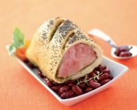 Prosciutto in crosta di pane e Red Kidney glassati